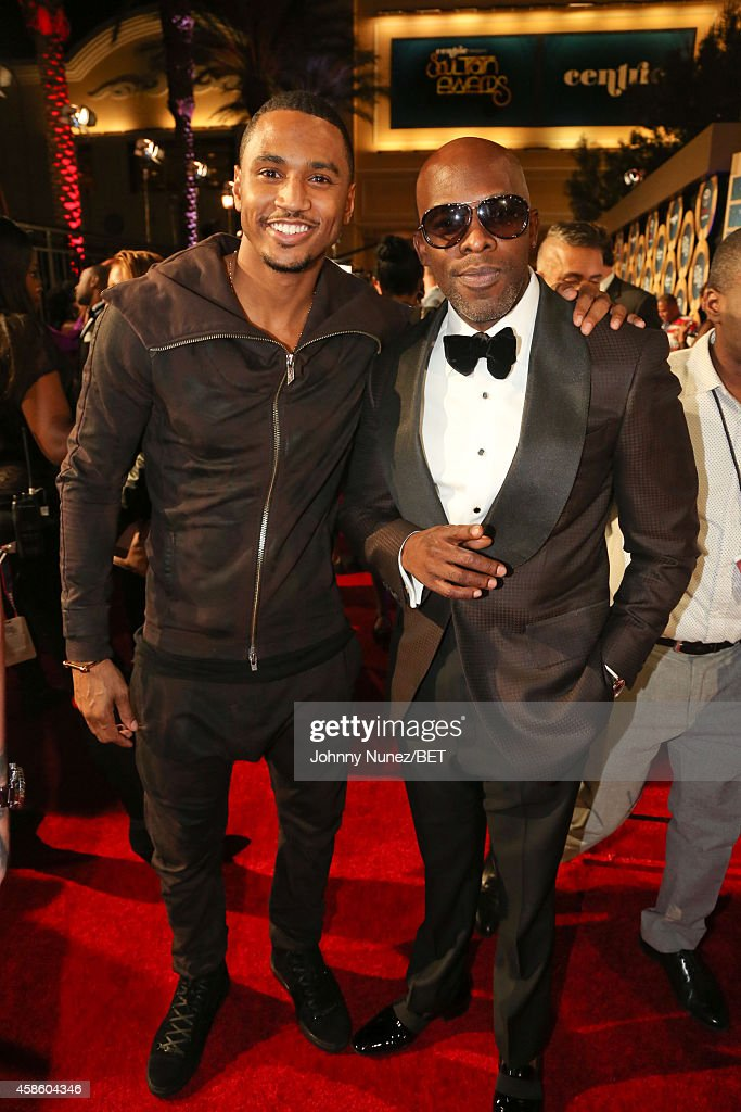 Trey Songz and Joe attend 2014 Soul Train Music Awards on November 7 2014 in Las Vegas Nevada