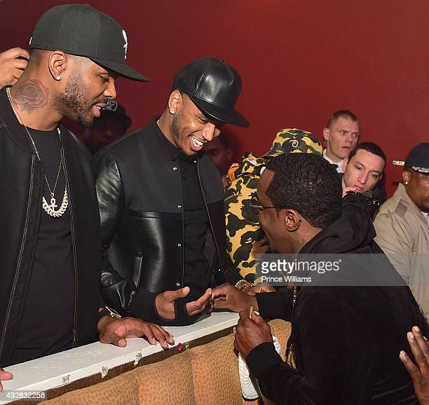 Trey Songz and Sean Combs attend BET Hip Hop Awards Grand Finale Hosted By Rick RossDiddyTrey Songz at The Mansion Elan on October 11 2015 in Atlanta...