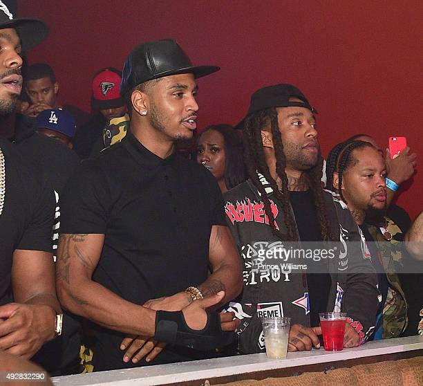 Trey Songz and Ty Dolla Sign attend BET Hip Hop Awards Grand Finale Hosted By Rick RossDiddyTrey Songz at The Mansion Elan on October 11 2015 in...