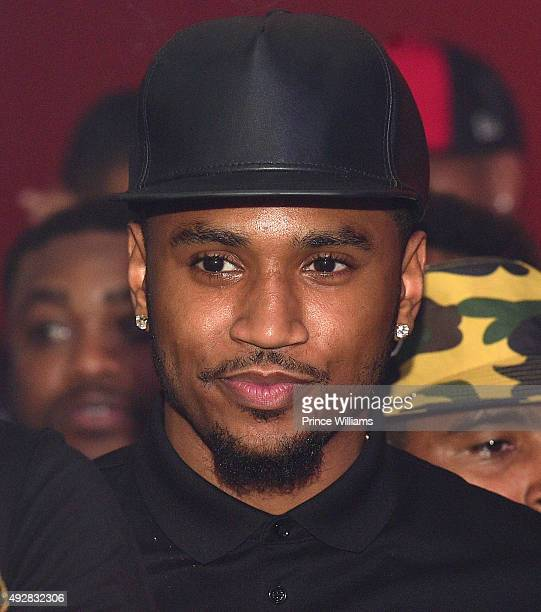 Trey Songz attends BET Hip Hop Awards Grand Finale Hosted By Rick RossDiddyTrey Songz at The Mansion Elan on October 11 2015 in Atlanta Georgia