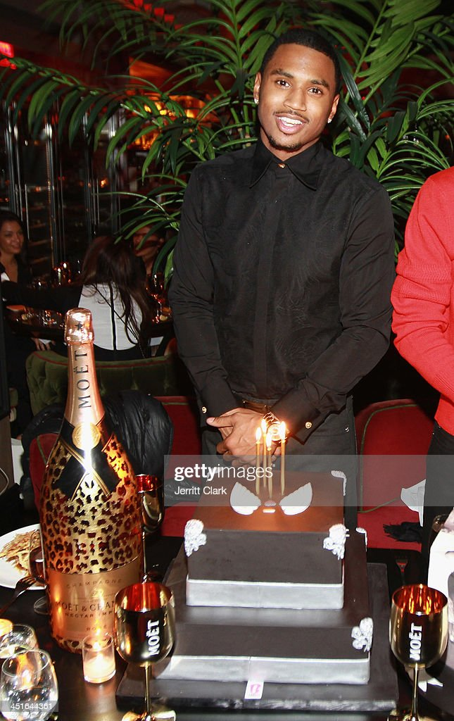<a gi-track='captionPersonalityLinkClicked' href=/galleries/search?phrase=Trey+Songz&family=editorial&specificpeople=674835 ng-click='$event.stopPropagation()'>Trey Songz</a> celebrates his birthday with a BCakeNY cake and Moët Nectar Impérial Rosé Leopard luxury limited edition bottle at <a gi-track='captionPersonalityLinkClicked' href=/galleries/search?phrase=Trey+Songz&family=editorial&specificpeople=674835 ng-click='$event.stopPropagation()'>Trey Songz</a> and Fabolous' birthday dinner at Cherry on November 22, 2013 in New York City.