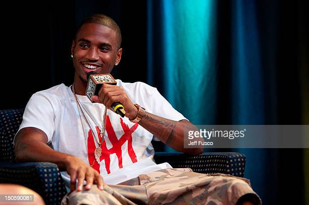 Trey Songz is interviewed at the Power 99 iHeartRadio Theater on August 22 2012 in Bala Cynwyd Pennsylvania