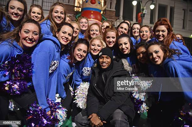 Trey Songz performs at the 89th Annual Macy's Thanksgiving Day Parade Rehearsals Day 2 on November 24 2015 in New York City