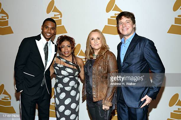 Trey Songz Valerie Simpson Melissa Etheridge and Joshua Bell attend The Recording Academy Honors at 583 Park Avenue on June 25 2013 in New York City