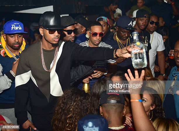 Trey Songz Young Jeezy and Ludacris attend BET Hip Hop Awards Weekend TakeOver at Compound on October 10 2015 in Atlanta Georgia