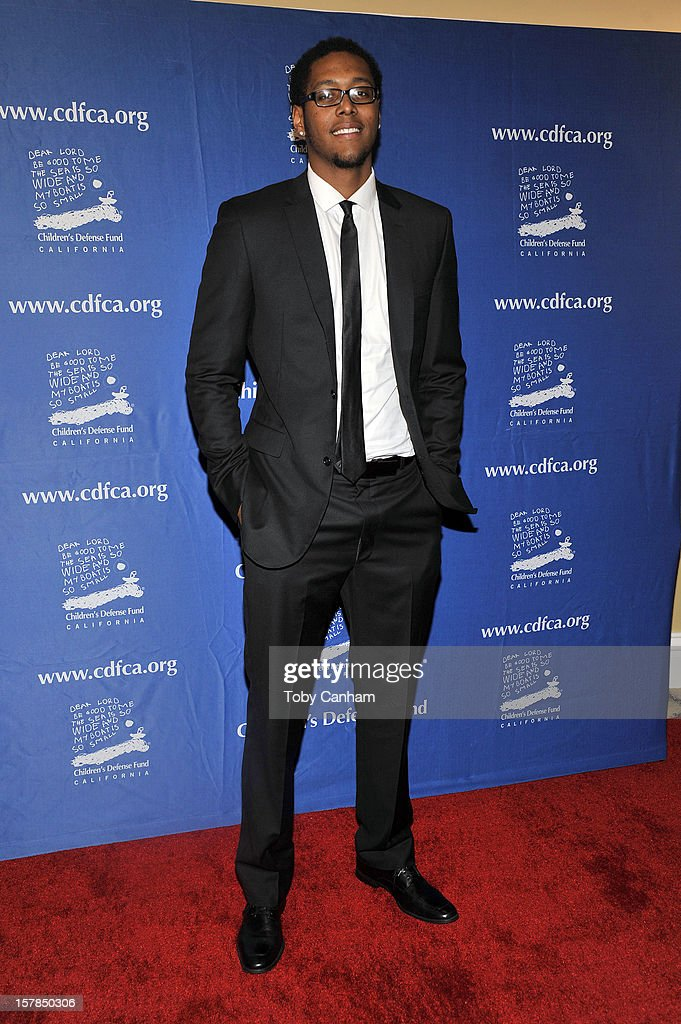 Trey Thompkins arrives for the Children's Defense Fund-California 22nd Annual 'Beat the Odds' Awards at Beverly Hills Hotel on December 6, 2012 in Beverly Hills, California.