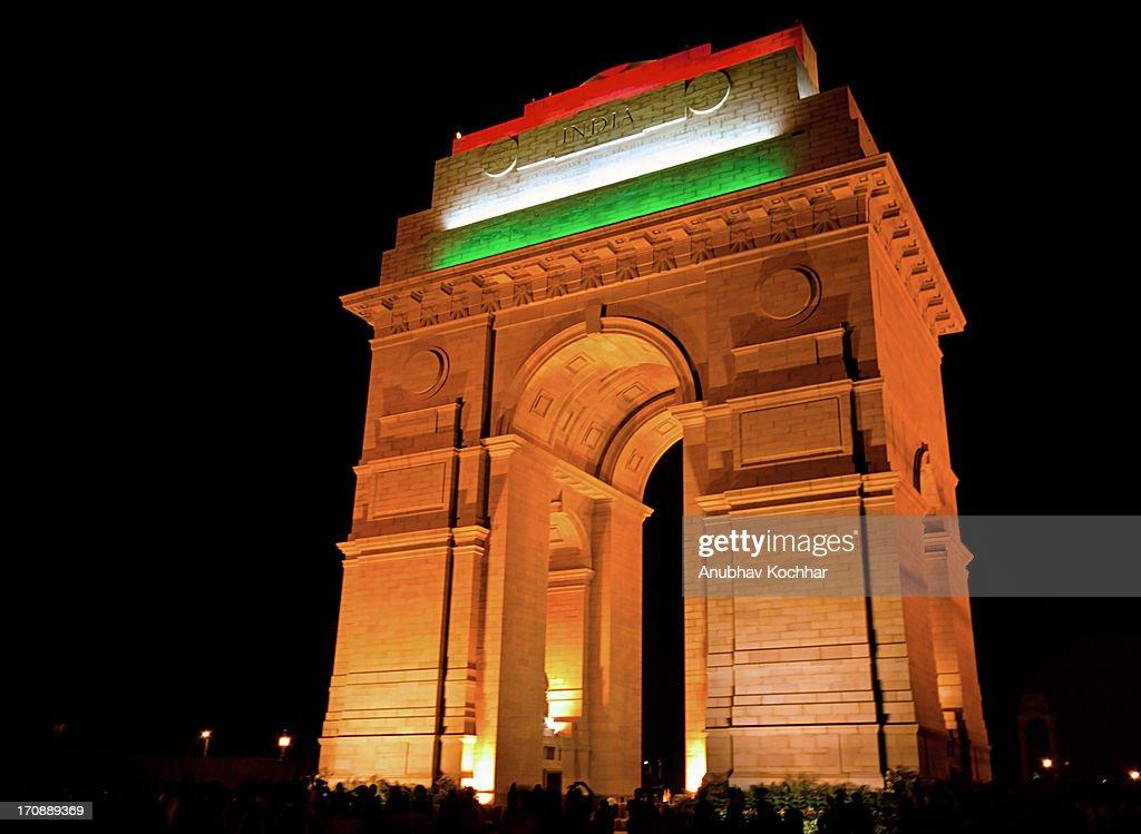 Tri Color India Gate