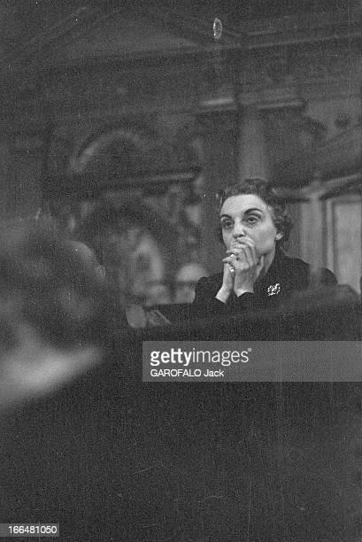 Trial Of Pauline Dubuisson 1953 1953 Novembre 28 Le procès de Pauline DUBUISSON accusée d' avoir tué en 1951 de 3 coups de revolver l'étudiant en...