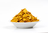 Indian special traditional salty food Triangle Chips