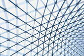 Triangle steel structure roof with blur effect