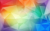 Triangular low poly colorful background with grunge effect
