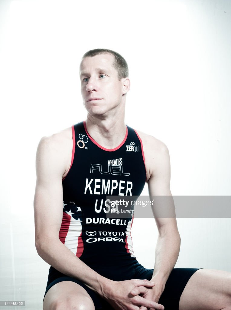 Triathlete, Hunter Kemper, poses for a portrait during the 2012 Team USA Media Summit on May 14, 2012 in Dallas, Texas.