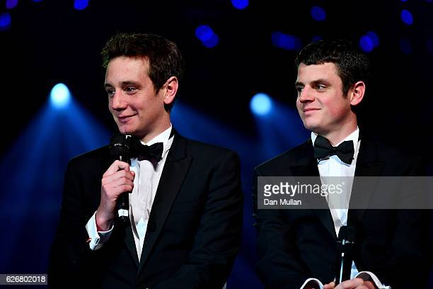 Triathletes Alistair Brownlee and Jonathan Brownlee take part in a QA during the Team GB Ball at Battersea Evolution on November 30 2016 in London...