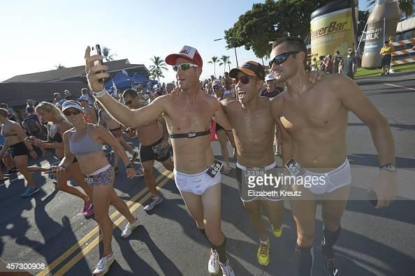 Ironman World Championship USA Apolo Ohno participates in the Kona Underpants Run an annual tradition before the main event Kona HI 10/9/2014 CREDIT...