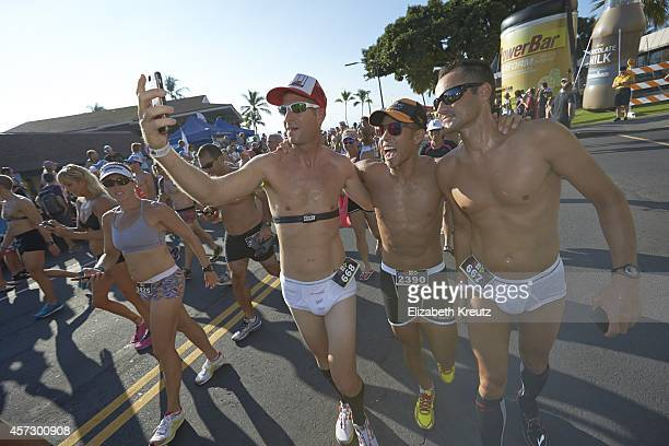 Ironman World Championship USA Apolo Ohno participates in the Kona Underpants Run an annual tradition before the main event Kona HI 10/9/2014 CREDIT...