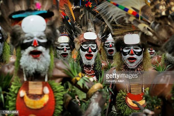 Tribal clan dance at sing sing