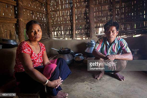 Tribal couple from Tripuri Clan in Tripura, India