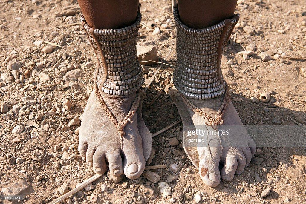 Tribal footwear : Stock Photo