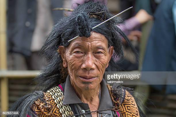 Tribal Indian men from Arunachal Pradesh, India.