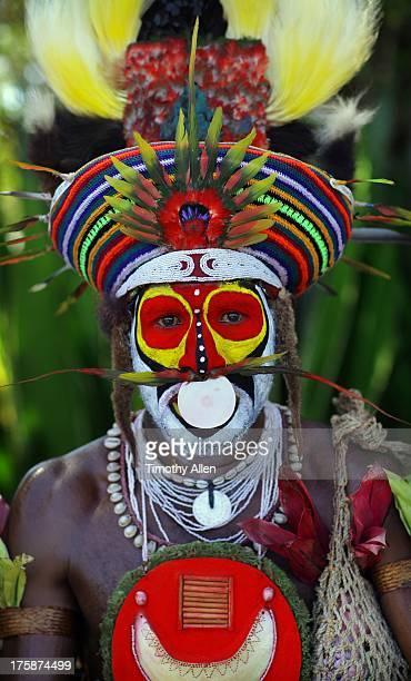 Tribal man at Mount Hagen Festival