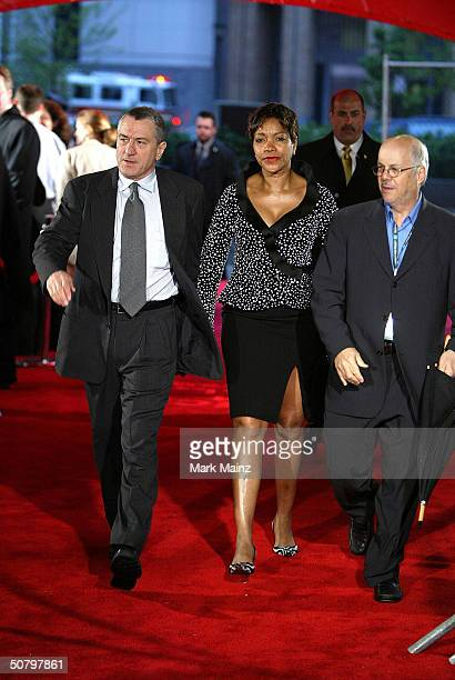 Tribeca Film Festival cofounder and actor Robert De Niro and Grace Hightower arrive at the 'Brotherhood' screening during the 2004 Tribeca Film...