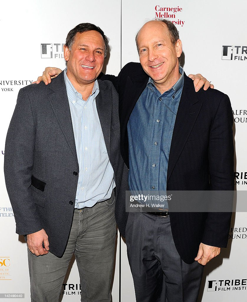 Tribeca Film Festival Co-Founder <a gi-track='captionPersonalityLinkClicked' href=/galleries/search?phrase=Craig+Hatkoff&family=editorial&specificpeople=206849 ng-click='$event.stopPropagation()'>Craig Hatkoff</a> and Alfred P. Sloan Foundation's Doron Weber attend Tribeca Film Institute's Sloan Student Grand Jury Award Cocktails at RDV on April 5, 2012 in New York City.