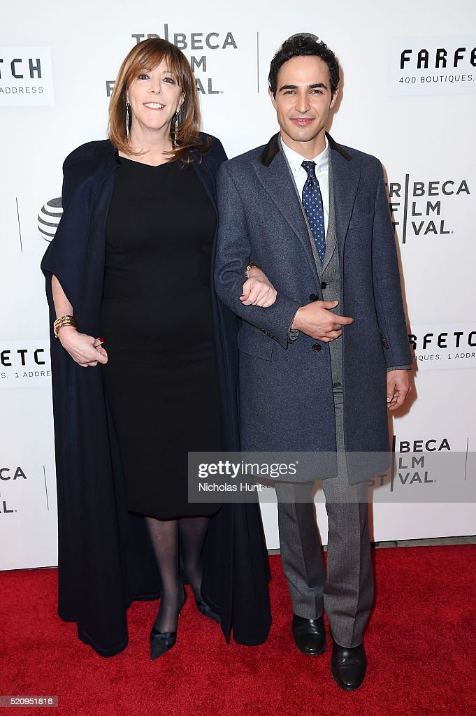 Tribeca Film Festival cofounder Jane Rosenthal and Designer Zac Posen attend the 'First Monday In May' world premiere during the 2016 Tribeca Film...