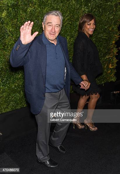Tribeca Film Festival Cofounder Robert De Niro and Grace Hightower attend the 2015 Tribeca Film Festival Chanel artists dinner at Balthazar on April...