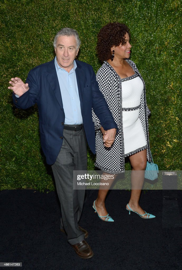 Tribeca Film Festival co-founder <a gi-track='captionPersonalityLinkClicked' href=/galleries/search?phrase=Robert+De+Niro&family=editorial&specificpeople=201673 ng-click='$event.stopPropagation()'>Robert De Niro</a> (L) and <a gi-track='captionPersonalityLinkClicked' href=/galleries/search?phrase=Grace+Hightower&family=editorial&specificpeople=211382 ng-click='$event.stopPropagation()'>Grace Hightower</a> attend the CHANEL Tribeca Film Festival Artists Dinner at Balthazar on April 22, 2014 in New York City.