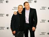 Tribeca Film Festival Cofounder Robert De Niro and Michael Rapaport attend TFF Awards Night during the 2015 Tribeca Film Festival at Spring Studio on...