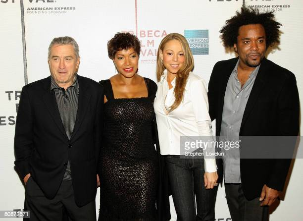 Tribeca Film Festival cofounder Robert De Niro Grace Hightower singer/actress Mariah Carey and producer Lee Daniels attends the premiere of...