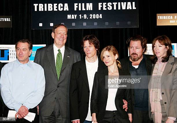 Tribeca Film Festival cofounder Robert De Niro New York State Governor George Pataki actors Kevin Bacon and Kyra Sedgwick director Julian Schnabel...