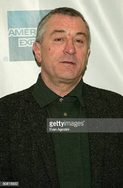 Tribeca Film Festival cofounder Robert De Niro poses at the Gala Premiere of 'Stage Beauty' during the 2004 Tribeca Film Festival May 8 2004 in New...