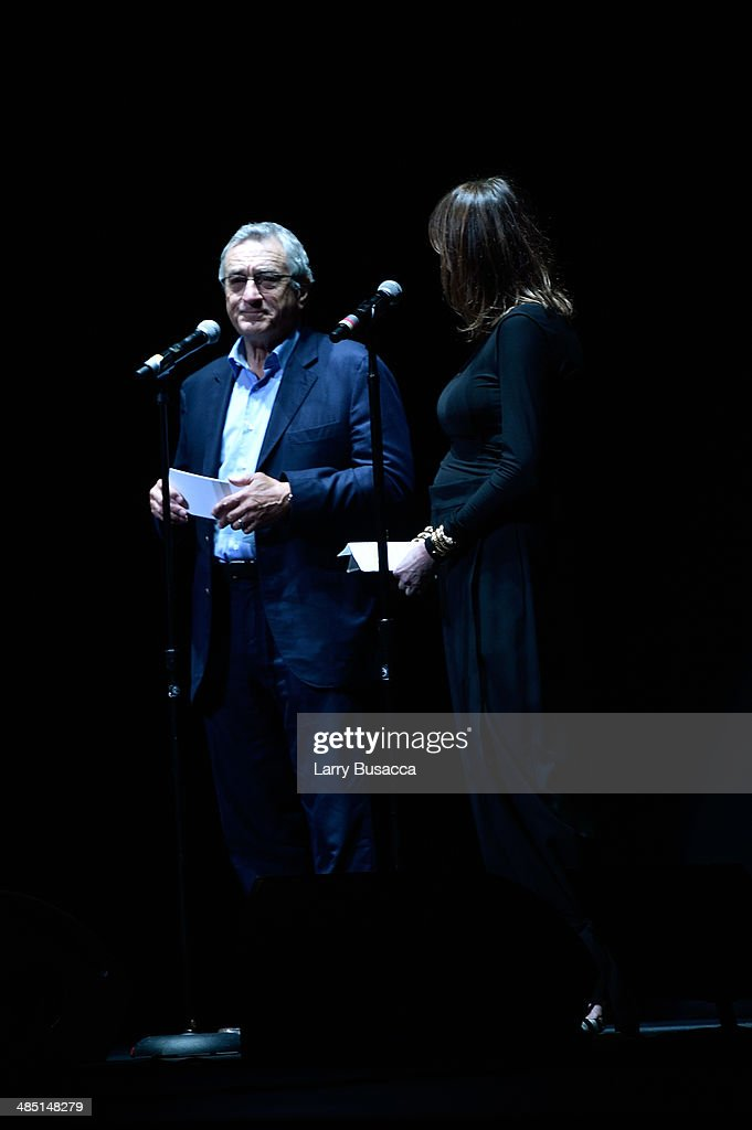 Tribeca Film Festival Cofounders Robert De Niro and Jane Rosenthal speak onstage at the 'Time Is Illmatic' Opening Night Premiere during the 2014...