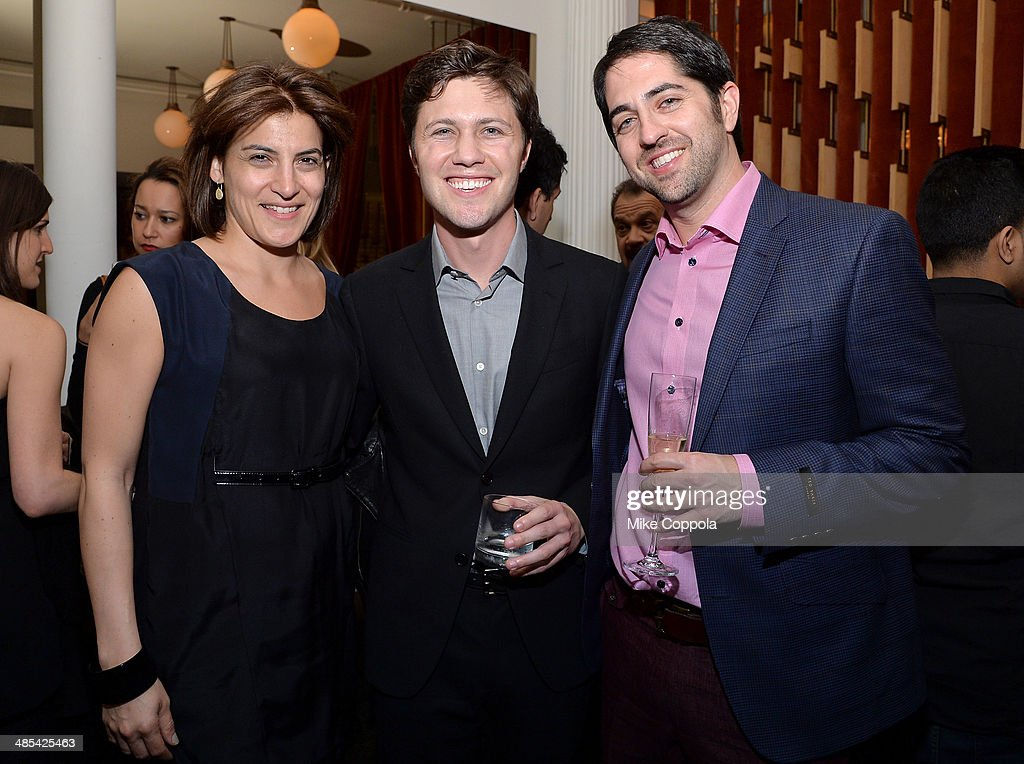 Tribeca Film Festival Director of Programming Genna Terranova, director Jesse Zwick, and Adam Saunders attend the 'About Alex' Premiere after party during the 2014 Tribeca Film Festival at Kutsher's Tribeca on April 17, 2014 in New York City.