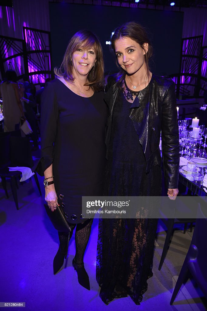 "Tribeca Film Festival Founder Jane Rosenthal and actress Katie Holmes attend the exclusive gala event ""For the Love of Cinema"" during the Tribeca..."