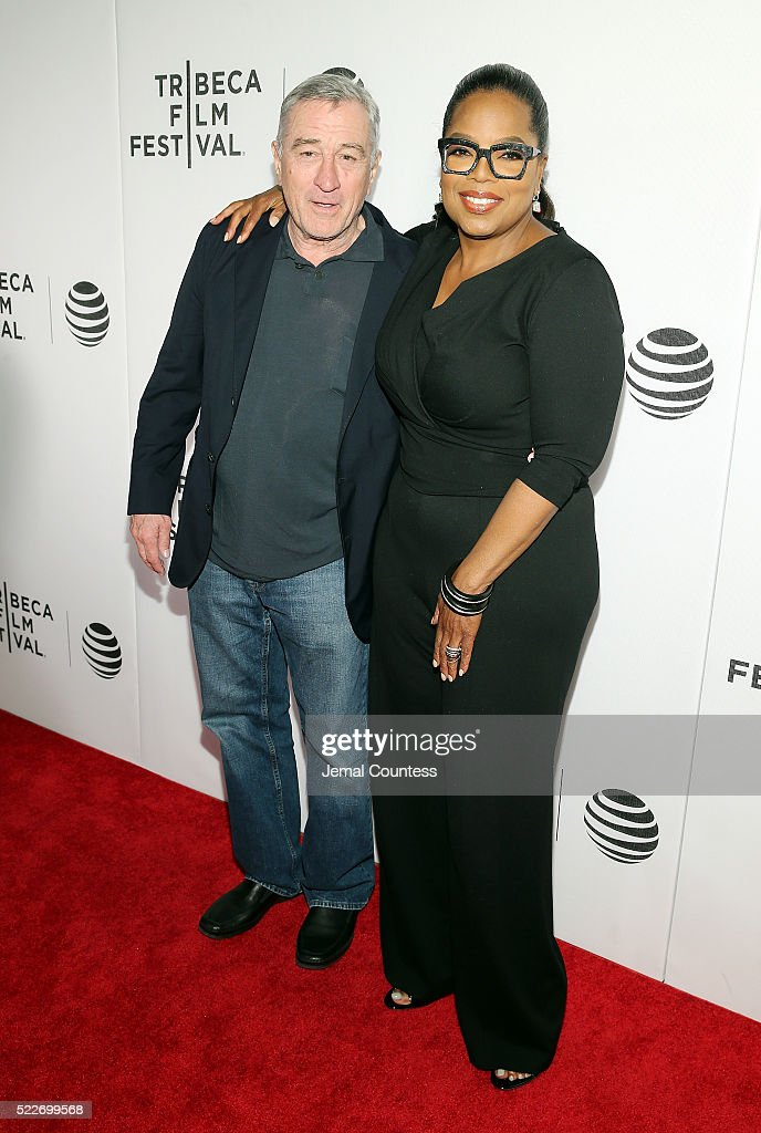 Tribeca Film Festival Founder Robert De Niro and actress/executive producer Oprah Winfrey attend Tribeca Tune In: 'Greenleaf' Screening at John Zuccotti Theater at BMCC Tribeca Performing Arts Center on April 20, 2016 in New York City.