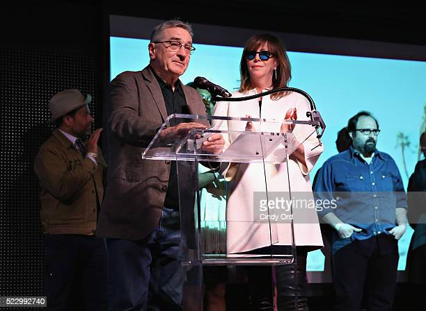 Tribeca Film Festival Founder Robert De Niro and executive chair of Tribeca Enterprises Jane Rosenthal speak on stage during the 2016 Tribeca Film...