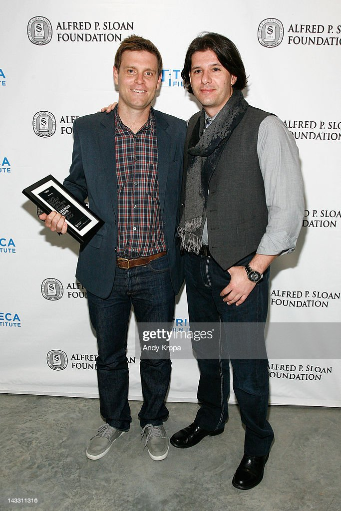 Tribeca Film Institute's Sloan Student Grand Jury Award winner Grainger David and Ricardo Gil Da Costa attend the Sloan WIP Readings & Cocktails during the 2012 Tribeca Film Festival at the Green Space on April 23, 2012 in New York City.