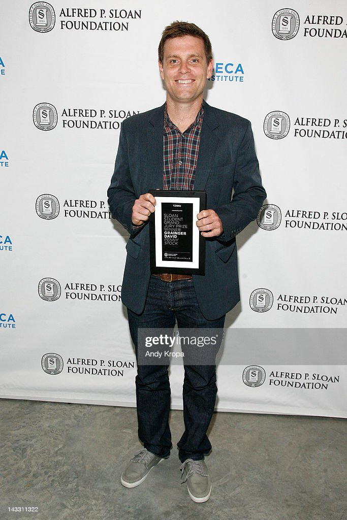 Tribeca Film Institute's Sloan Student Grand Jury Award winner Grainger David attends the Sloan WIP Readings & Cocktails during the 2012 Tribeca Film Festival at the Green Space on April 23, 2012 in New York City.