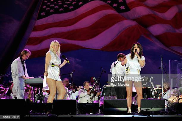 ABBA tribute band ARRIVAL from Sweden perform at Boston Pops On Nantucket Hosted By Real Simple and Coastal Living at Jetties Beach on August 9 2014...