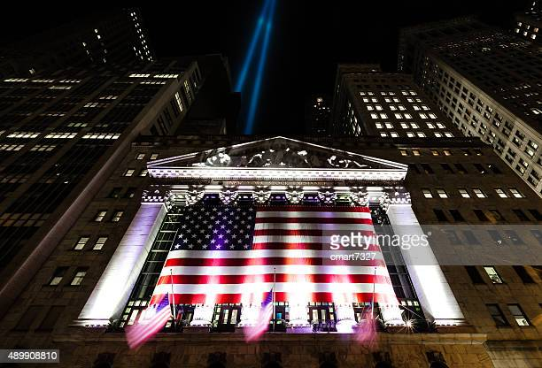 Tribute in Light over the New York Stock Exchange