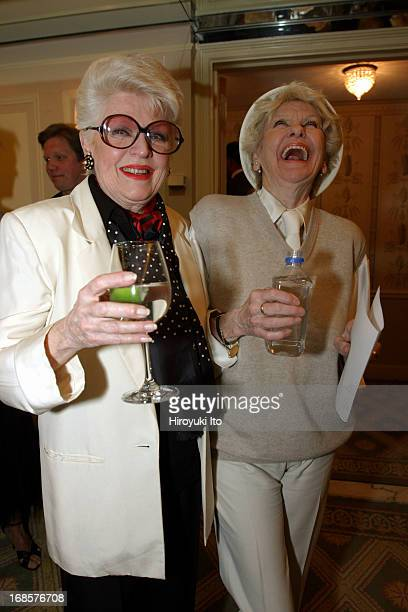 'Tribute to Bobby Short' a cocktail party at the Carlyle Hotel on Tuesday night May 3 2005This imageFrom left Marti Stevens and Elaine Stritch