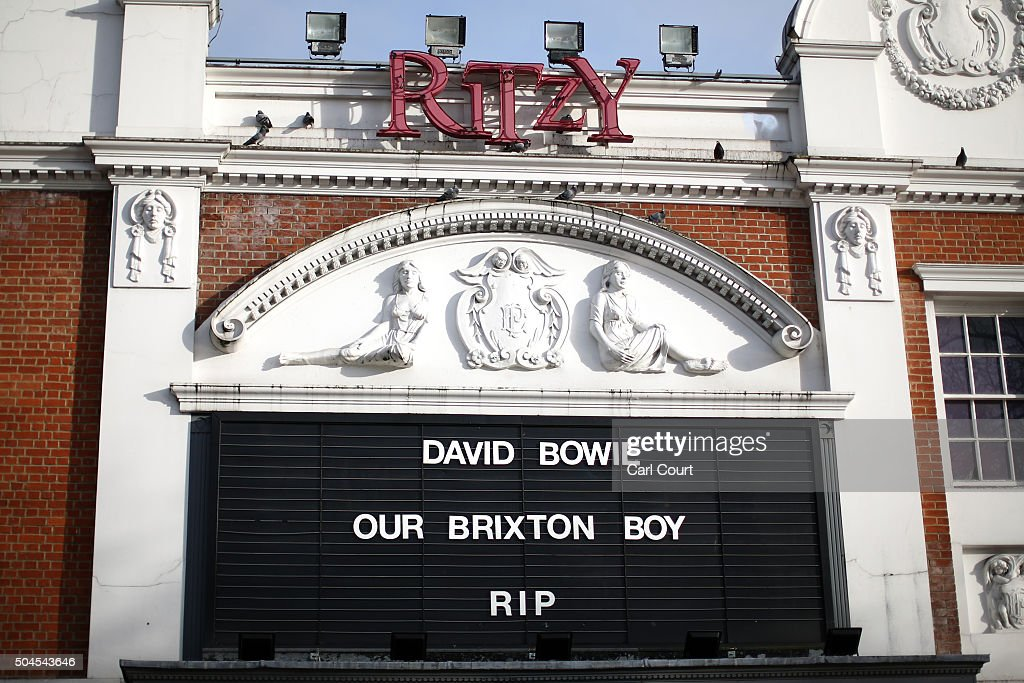A tribute to <a gi-track='captionPersonalityLinkClicked' href=/galleries/search?phrase=David+Bowie&family=editorial&specificpeople=171314 ng-click='$event.stopPropagation()'>David Bowie</a> is displayed outside Ritzy Cinema in Brixton on January 11, 2016 in London, England. British music and fashion icon <a gi-track='captionPersonalityLinkClicked' href=/galleries/search?phrase=David+Bowie&family=editorial&specificpeople=171314 ng-click='$event.stopPropagation()'>David Bowie</a> died earlier today at the age of 69 after a battle with cancer.