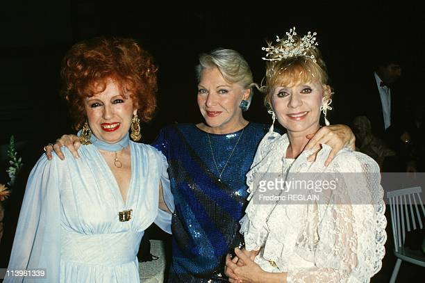 Tribute to Singer Dalida In Paris France On March 31 1988Yvette Horner Line Renaud and Annie Cordy female icons of the French music scene gather to...