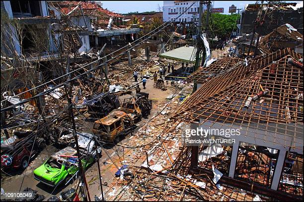 Tribute To The Victims On The Site Of The Kuta Car Bomb Attack On October 16Th 2002 In Bali Indonesia