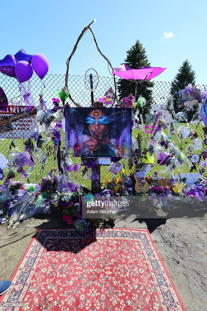 Tributes and memorials dedicated to Prince on the fence that surrounds Paisley Park on May 2, 2016 in Chaska, Minnesota. Prince died on April 21, 2016 at his Paisley Park compound at the age of 57. As a will has not been found, court proceedings have started to decide how his assets should be divided.