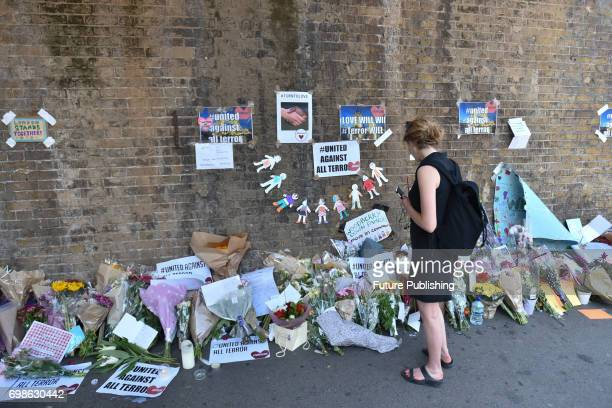 Tributes near and outside Finsbury Park mosque after the terror attack on June 20 2017 in London England PHOTOGRAPH BY Matthew Chattle/Barcroft...