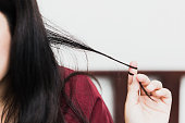 Trichotillomania or hair pulling disorder in mental health problem with stress or worry women