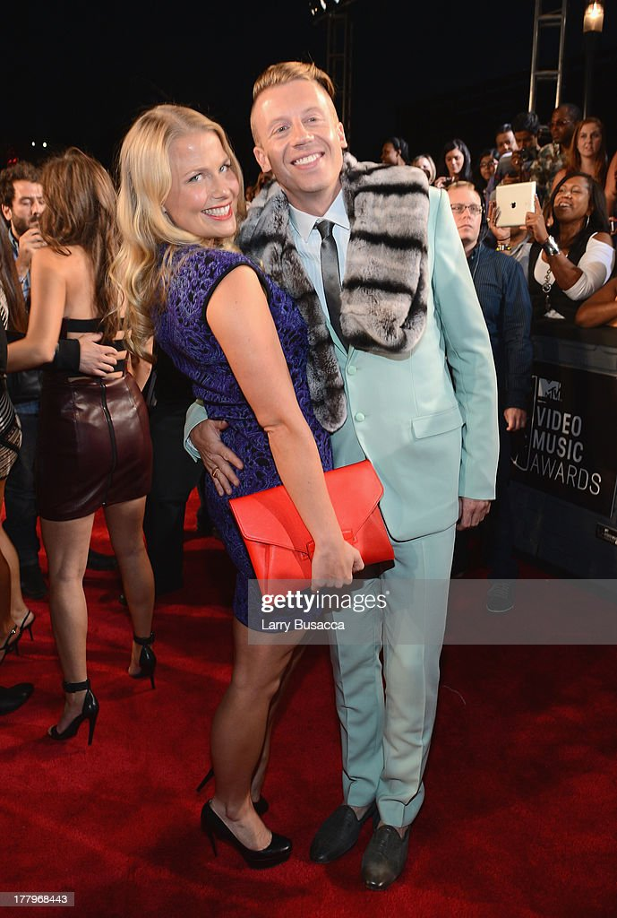 Tricia Davis and Macklemore attend the 2013 MTV Video Music Awards at the Barclays Center on August 25, 2013 in the Brooklyn borough of New York City.